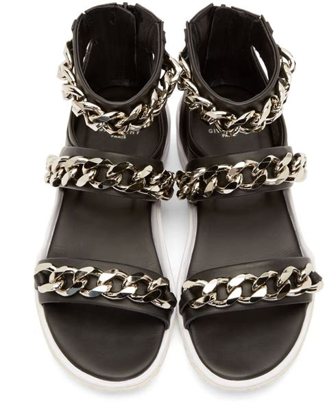 givenchy mens sandals givenchy black curb chain sport sandals styling