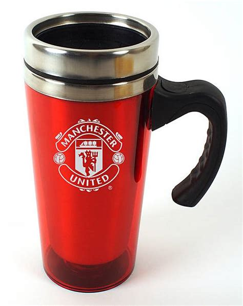 Mug Melamin Manchester United exec style football travel mug fashion world