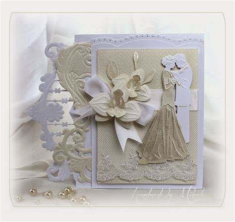 handmade by mihaela wedding card