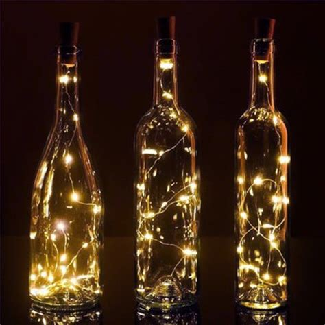 lighted corks for wine bottles bulk pack 3 20 warm white led cork wine bottle l