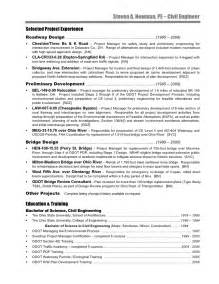 Bridge Engineer Sle Resume by Civil Engineer Resume Steve Newman