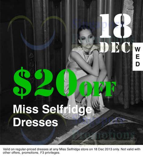 Dress Branded Miss Selfridge miss selfridge 20 dresses one day promo 18 dec 2013