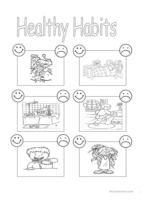 the healthy living handbook simple everyday habits for your mind and spirit books 19 free esl healthy habits worksheets