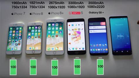iphone  galaxy  ve oneplus  pil testinde karsi