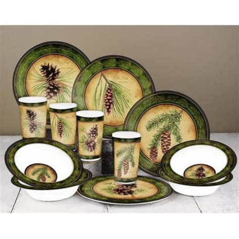 sets for melamine dinnerware sets for 4 c dishes rv rustic cabin