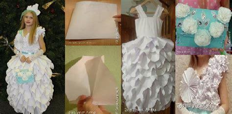 Handmade Fancy Dress Ideas - handmade paper frock for fancy dress competition