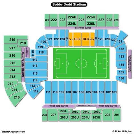 Stadium Seating by Bobby Dodd Stadium Seating Chart Seating Charts Tickets