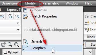 fungsi layout autocad tutorial autocad x fungsi perintah lengthen autocad
