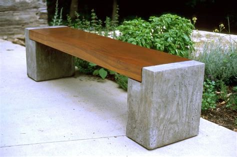 concrete and wood bench 17 best images about concrete furniture on pinterest