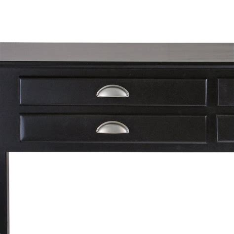 solid wood sofa table solid wood console sofa table in black 20450
