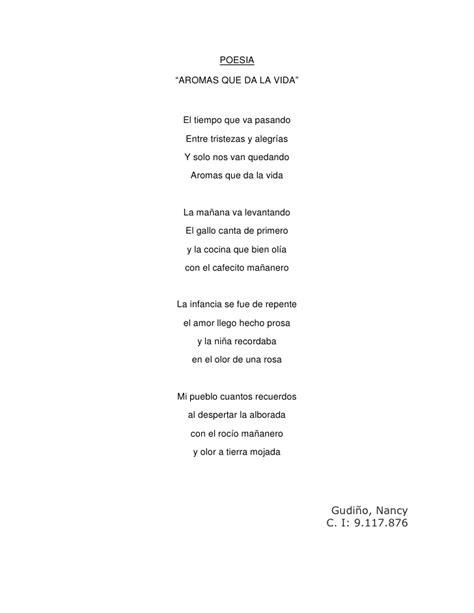 poema de cuatro estrofas poesia aromas que da la vida