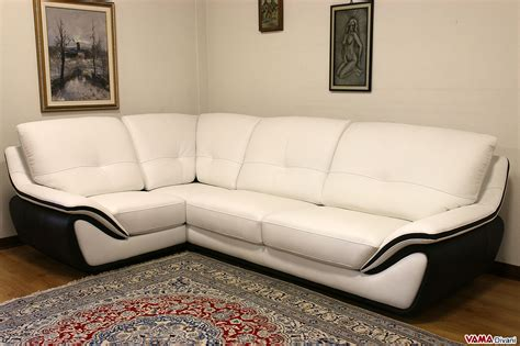 divano ad angolo in pelle divano in pelle moderno bianco schienale alto avvolgente