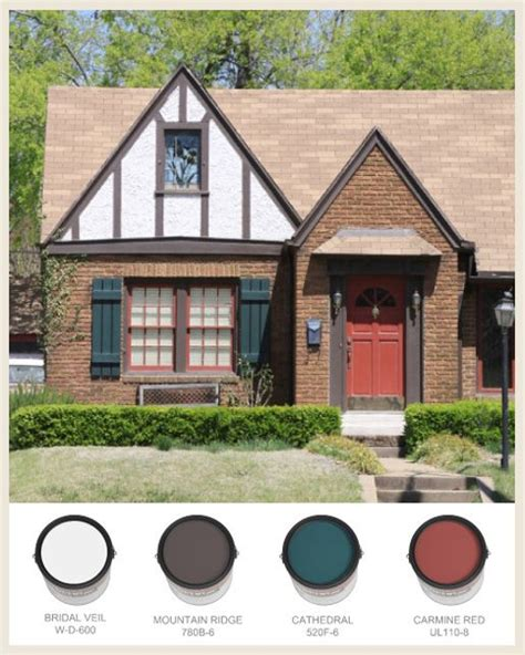 tudor house tudorific pinterest behr tudor with half timbering and red front door home