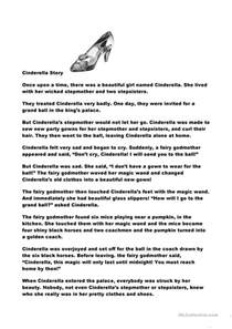 cinderella story worksheet free esl printable worksheets