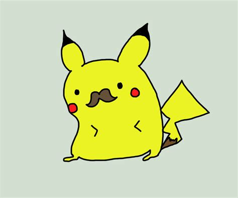 with a mustache how to draw pikachu with a mustache www imgkid the image kid has it