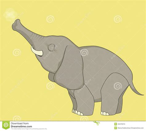 Funny Cartoon Elephant Stock Vector - Image: 43476315