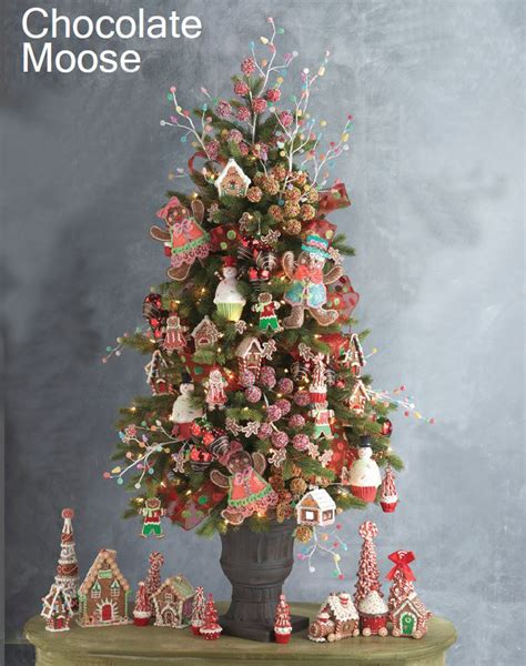 gingerbread themed trees raz chocolate moose trees trendy tree decor inspiration wreath