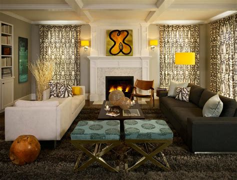 a riverstone fireplace sets the tone creative faux panels living room curtains design ideas 2016 small design ideas