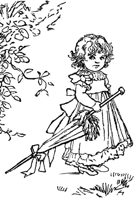 sad little girl coloring pages