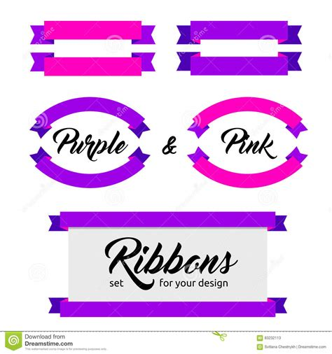 banners flat design elements vector 18 set of vector ribbons and banners flat style stock