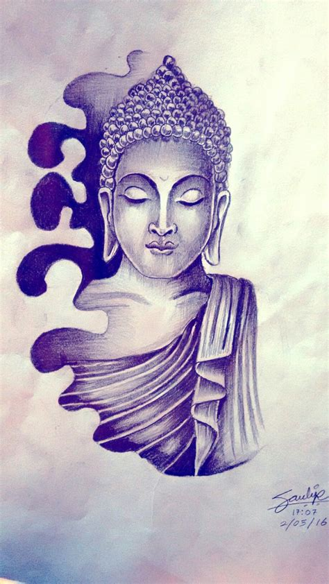 lord buddha tattoo designs lord buddha drawing by artist sandip uttam at