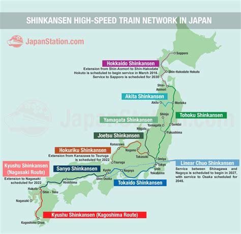 shinkansen map shinkansen high speed network in japan japan station