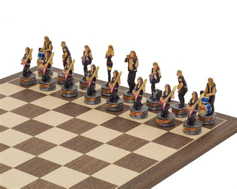 Sila Set Rok N Blus the jazz band vs rock painted themed chess set by italfama rcpb343 163 136 59 the