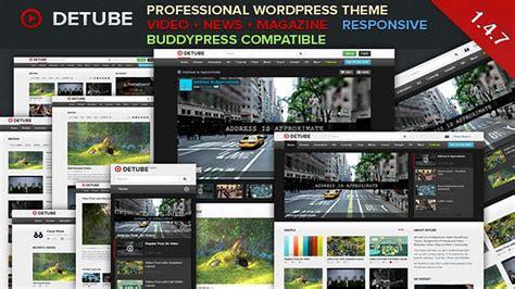 wordpress themes free no ads detube professional video wordpress theme v1 4 6 youtube
