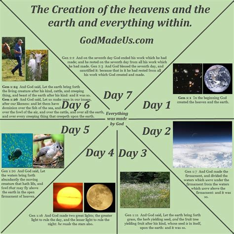 what s causing creations books bible chart from creation to days of creation chart