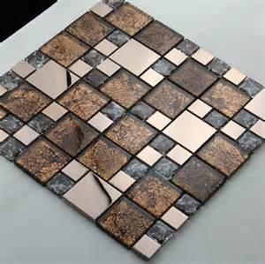 stainless steel mosaic mix glass mosaic tile kitchen