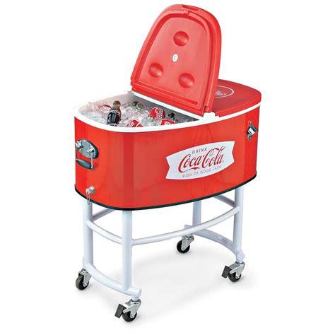 coca cola 174 rolling cooler 129532 decorative