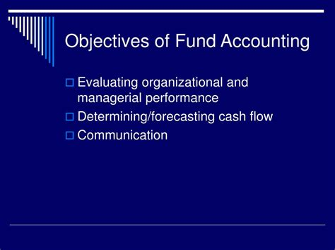 objectives of fund flow statement ppt fund accounting powerpoint presentation id 20886