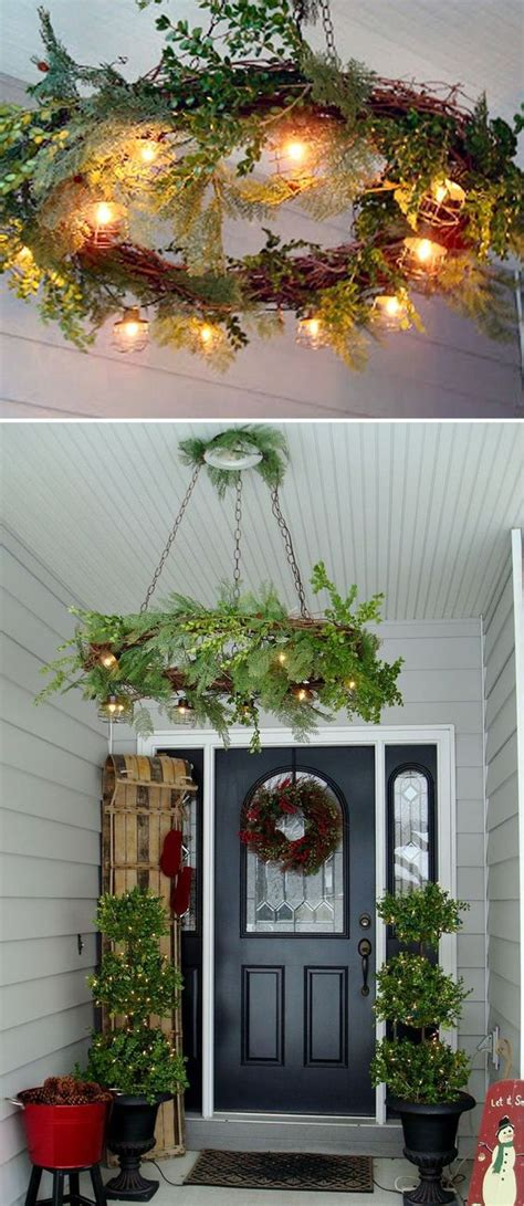 decorations to hang outside of houses hanging wreaths and bird cage ideas