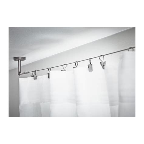cable curtain rod dignitet curtain wire stainless steel 500 cm ikea
