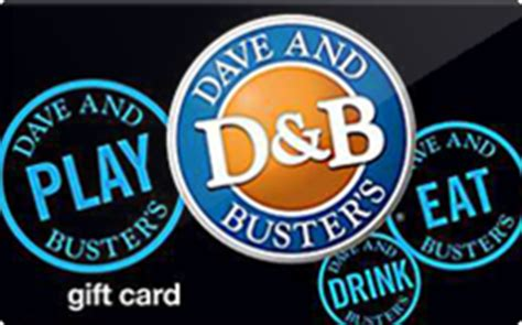 Dave And Buster Gift Card - dave and busters gift card discount 15 00 off