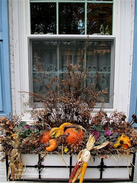 Fall Planter Box Ideas by Fall Window Boxes Window Boxes And Window On