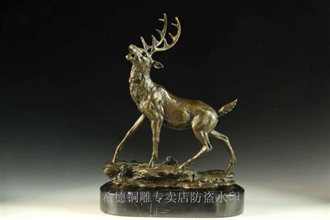 bronze 3 reindeer statue reindeer copper sculpture brass statuette crafts fireplace figurine home decoration modern