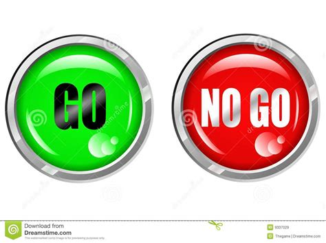 to go free or not to go free should you choose go nogo button stock vector illustration of design