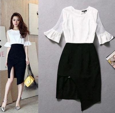 black dress blouse fashion ql