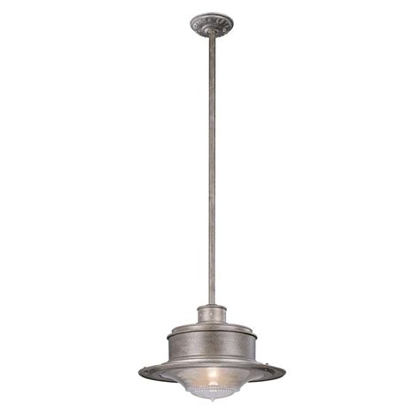 Galvanized Outdoor Light Troy Lighting South 1 Light Galvanized Outdoor Pendant F9397og The Home Depot