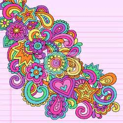 Psychedelic Wall Murals Wall Mural Flower Power Doodles Groovy Psychedelic Vector