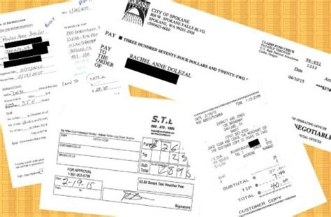 City Of Spokane Records Here Are The Literal Receipts Dolezal Billed To Spokane Taxpayers Colorlines