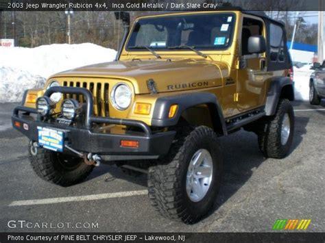 Inca Gold Jeep Wrangler Inca Gold Metallic 2003 Jeep Wrangler Rubicon 4x4