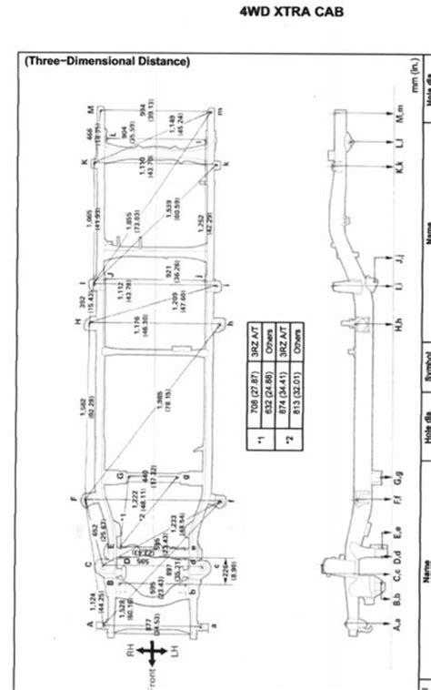 Toyota Tacoma Measurements Tacoma Frame Dimensions Tacoma World
