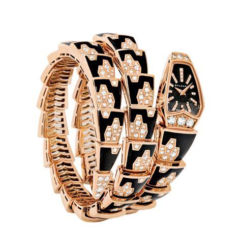 Bangle Bvlgari Black Dots With Diamonds Gold Bangle celebrating bulgari s serpenti in the year of the snake jewels du jour