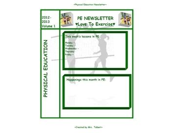 Physical Education Newsletter Template 17 Best Images About Hpe Physical Education On Pinterest Parachute Games Physical Education