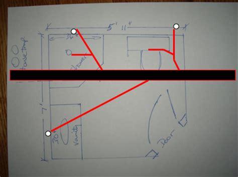 bathroom plumbing diagram concrete slab i need a riser diagram for an under slab bathroom