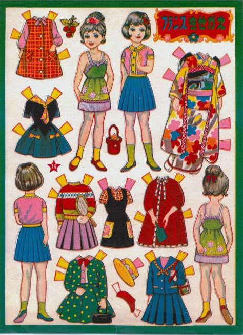 printable japanese paper dolls 60 best paper images on pinterest printables paper