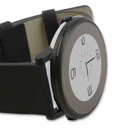 Pebble Time 20mm skinomi techskin pebble time 20mm silver carbon