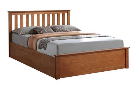 Phoenix Oak Wooden Ottoman Bed Small Double Only 163 329 99